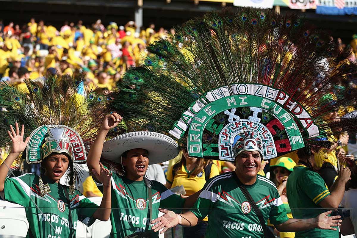 Aficionados de la selección de México