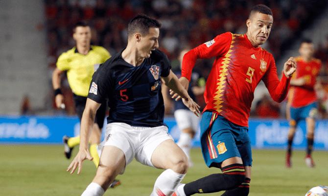 Croacia contra España en el juego de la Liga de Naciones