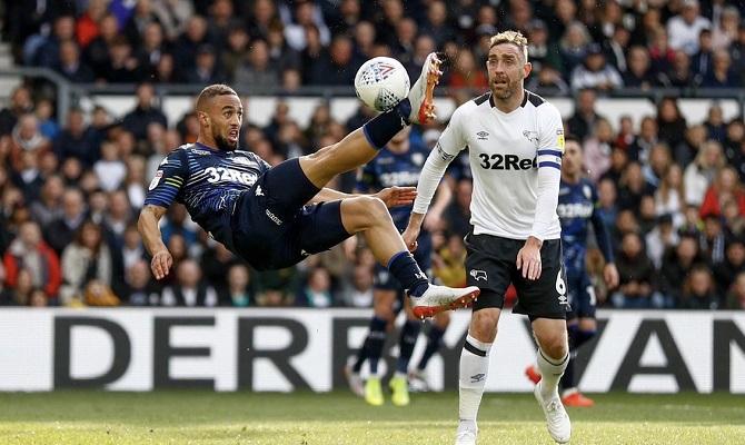 El Leeds United recibe al Derby County con ventaja de un gol en las Semifinales de The Championship.
