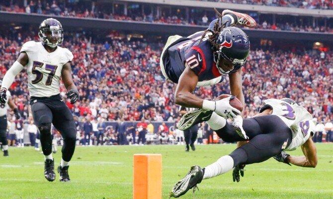 Los Texanos de Houston buscan romper el buen paso de los Cuervos de Baltimore