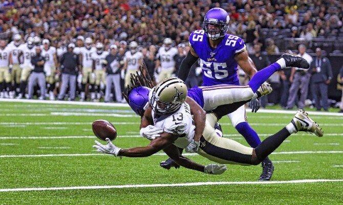 Santos de Nueva Orleans vs Vikingos de Minnesota