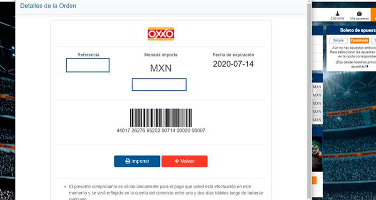 Métido de pago Oxxo