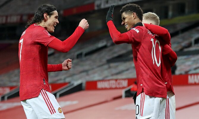 Cavani y Rashford serán jugadores clave en las apuestas para el Arsenal Vs Manchester United