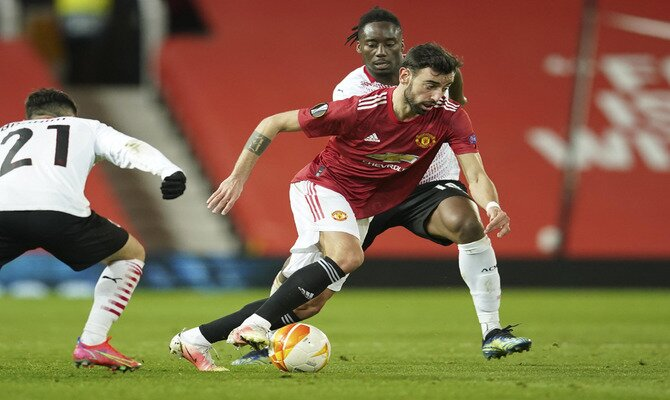 Bruno Fernandes es el jugador en mejor ritmo y que puede marcar las diferencias en las cuotas del Milan vs Manchester United