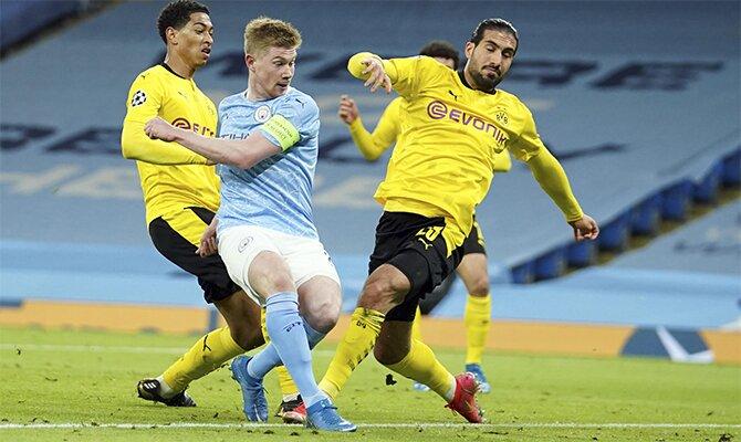 Kevin de Bruyne es la figura en las cuotas del Borussia Dortmund vs Man City de la Champions League.