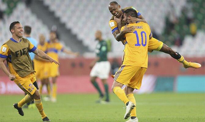 Imagen de André Pierre Gignac celebrando un gol. Cuotas y pronósticos del Tigres vs Monterrey.