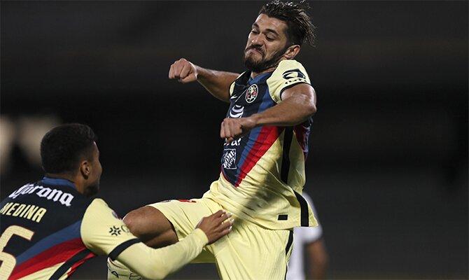 Imagen de un jugador celebrando un gol. Cuotas cuartos de Final del Guardianes 2021 de la Liga Mx.