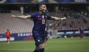 Kylian Mbappé, estrella de Francia, celebra un gol en la imagen. Picks Francia vs Alemania Euro 2020